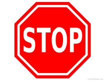 Stop Sign and Many More Free Printable Road Signs