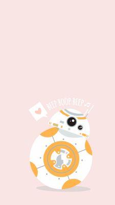 projeto minúsculo - Star Wars - Ideas of Star Wars - star wars. Bb 8 Wallpaper, Star Wars Wallpaper Iphone, Cute Disney Wallpaper, Cute Cartoon Wallpapers, Phone Wallpapers, Bb8 Star Wars, Star Wars Quotes, Star Wars Humor, Star Wars Tattoo