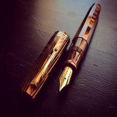 OMAS Fountain Pen /  Vintage, Paragon L.E., celluloid.