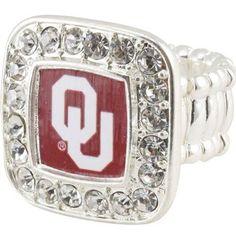 In i love my sooners : Oklahoma Sooners bling ring by Oklahoma Sooners Football, Ou Football, Boomer Sooner, University Of Oklahoma, Love Ring, Metal Stamping, Team Logo, Me Too Shoes, Bling