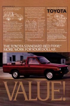1984 Toyota truck ad.