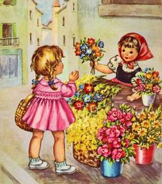 Children old books and cards Vintage Children's Books, Vintage Cards, Pictures To Paint, Print Pictures, Vintage Pictures, Vintage Images, Old Nursery Rhymes, Sweet Magic, Gif Animé