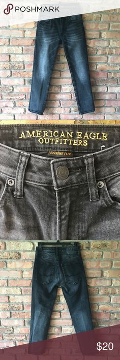AEO 360 Extreme Flex Slim Straight Jean AEO 360 Extreme Flex Slim Straight Jean Great condition Color: Dark Vintage Size: 26 x 28 American Eagle Outfitters Jeans Slim Straight