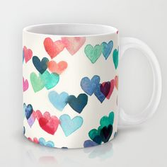Heart Connections - watercolor painting Mug by Micklyn - $15.00