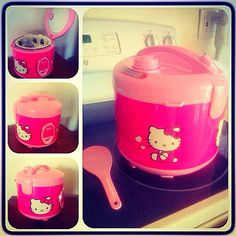 My Hello Kitty Rice Cooker.. Happy Birthday gift to me by my Baby! :) - Home appliances #HomeAppliances #Electric #Home #GetWeHeartPics