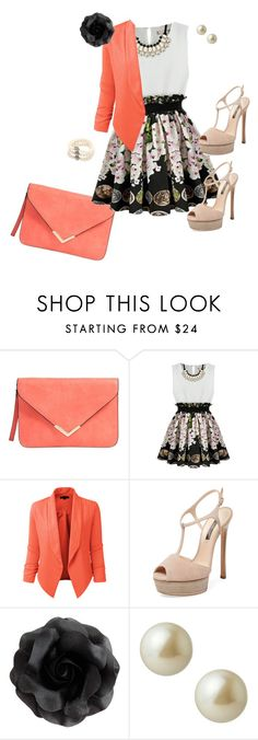 """""""Pearls"""" by frozensunset on Polyvore featuring LE3NO, Casadei and Carolee"""