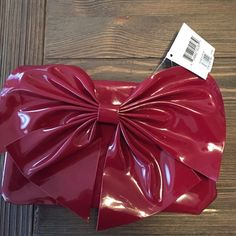 Patent clutch Cute red Nordstrom clutch...join the hottest trend of eye-popping clutches to add a bit of spice to any wardrobe! Bags Clutches & Wristlets
