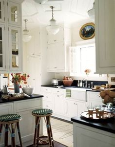 ARTICLE: Loving A White Kitchen | Image Source: House Beautiful | CLICK TO READ... http://carlaaston.com/designed/loving-a-white-kitchen