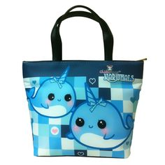 Kawaii narwhals - Bucket bag - BB3 | ChibiBunny - Bags & Purses on ArtFire