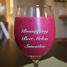 Beautifying Beet Melon Smoothie Ingredients: 1 cup cantaloupe chunks ...