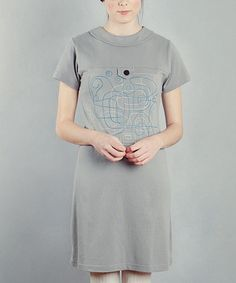 Take a look at this Gray Basquiat Sara Dress by Titis Clothing on #zulily today!