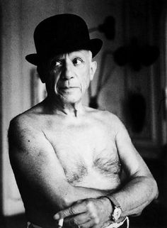 Pablo Picasso in Hat