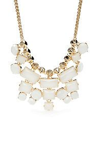 Kensie Tonal Stone Bib Necklace