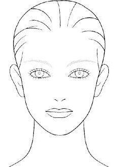 Gesicht Diagramm Make Up Kunstler Blank Vorlage 0