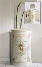 Muebles Joyeros de madera : Modelo ROSAS Blanco