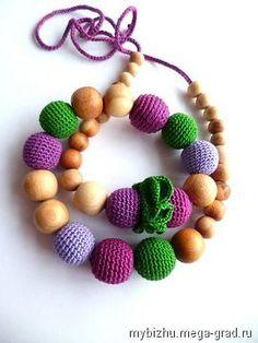 """Слингобусы/бусы """"Фиалки"""" - вязание и вышивка, плетение, авторские аксессуары для детей. МегаГрад - портал авторской ручной работы"""