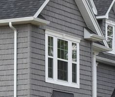 """This listing is for 7"""" Staggered Shake Vinyl Siding. They are sold by the square. A square covers a 10' X 10' area. Each piece is 60 3/4"""" long and 7"""" wide."""