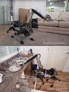 Google's Boston Dynamics has an interesting new robot, called SpotMini, and it's the stuff of nightmares, or so we think. Weighing 55 lbs dripping wet - 65 lbs if you include its extendable arm, it's all-electric, without no hydraulics whatsoever, and runs for about 90 minutes on a full charge.