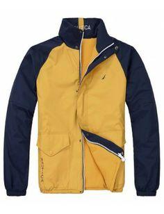 Nautica chaqueta reversible de hombre   Navy-yellow Jackets, Men