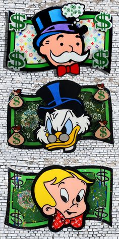 Money Tree Invitations - Money Saving For Teens - Homemade Money Box - Money Quotes Not About - Money Symbol Witch - Australian Money Roll Graffiti Cartoons, Dope Cartoons, Disney Pop Art, Resin Wall Art, Mickey Mouse Art, Scrooge Mcduck, Cool Art Drawings, Classic Cartoons, Dope Art