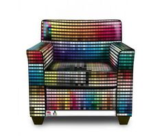 Hot or Not? Pantone Printed Leather Chair