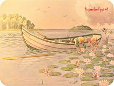 Uncle Blås new boat - Elsa Beskow