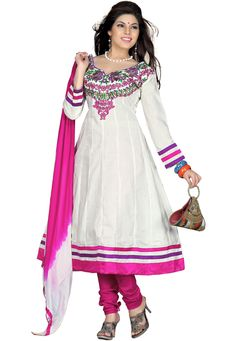 Make a dazzling fashion statement in this sequined salwar suit that is sure to gab ones attention