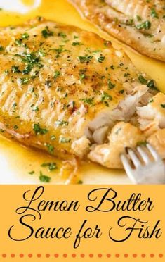 Lemon Butter Sauce for Fish recipes healthy healthy breakfast healthy clean eating healthy snack healthy vegetarian Basa Fish Recipes, Flounder Recipes, Salmon Recipes, Baked Halibut Recipes, Basa Fillet Recipes, Baked Haddock Recipes, Red Snapper Recipes, Baked Whiting Fish Recipes, Cod Loin Recipes