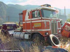 KENWORTH Big Rig Trucks, Semi Trucks, Cool Trucks, Cool Cars, Kenworth Trucks, Peterbilt, Vehicle Signage, Junk Yard, Cab Over