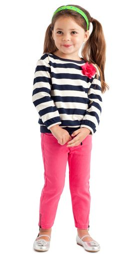{Colored Skinny Jeans} Will your little one wear jeans? Mine say they are uncomfortable when they sit pretzel style. Just curious if your kids wear them...
