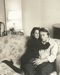 The late Christopher Hitchens and his wife.