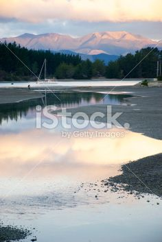 Mapua Estuary by Dusk Royalty Free Stock Photo Abel Tasman National Park, Pink Clouds, Turquoise Water, South Island, Image Now, Dusk, National Parks, Royalty Free Stock Photos, Magic