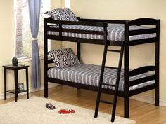 AF Furniture Twin/Twin Wooden Bunk Bed Convertible Fully Slated Las Vegas Furniture Online | LasVegasFurnitureOnline | Lasvegasfurnitureonline.com