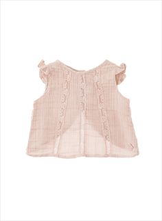 Tocoto Vintage Baby Sleeveless Blouse with Lace Details – Hello Alyss - Designer Children's Fashion Boutique