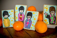 Beatles Yellow Submarine inspired Sugar Cookies by Snickety Snacks