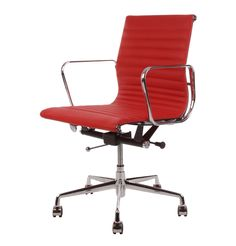 The Matt Blatt Replica Eames Group Aluminium Chair in red