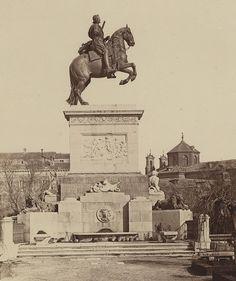 FOTOS ANTIGUAS DE MADRID - ESTATUA DE FELIPE IV EN 1857