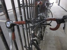 Leather hits the handlebars as well as the saddles of bikes in the City of London