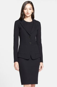 St. John Collection Milano Piqué Knit Jacket available at #Nordstrom
