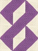 3d illusion afghan block pattern   Links of Love Quilt Afghan Blanket Crochet Pattern