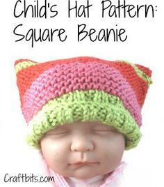 Child's Hat – Square Beanie