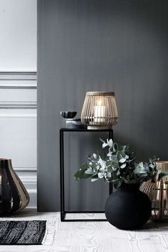 Home Decor . Interior Design Inspiration . Black Wall . Eclectic Masculine Style .