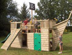 Pirate Ship Play House Design Adding Fun to Kids Backyard Ideas