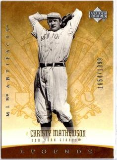 2005 UPPER DECK MLB ARTIFACTS CHRISTY MATHEWSON LEGENDS 1654/1999 in Sports Mem, Cards & Fan Shop, Cards, Baseball | eBay $0.01