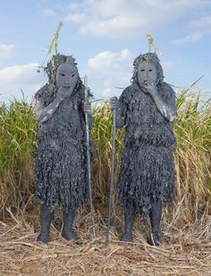 Juxtapoz Magazine - Japan's Ritual Ghosts, Monsters, Ogres and Goblins Folklore Japonais, Charles Freger, Magazine Japan, Tribal Costume, Japanese Monster, Costumes Around The World, Art Populaire, Manado, Expositions