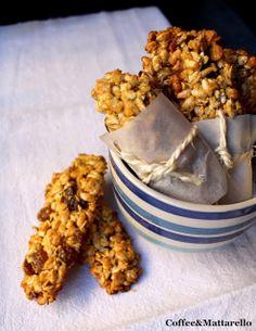 Coffee & Mattarello: Barrette energetiche ai cereali homemade