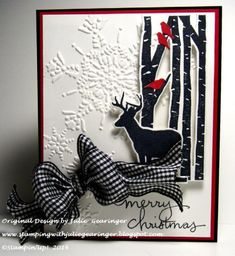CCC14 Merry Christmas Deer by Julie Gearinger - Cards and Paper Crafts at Splitcoaststampers