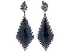 Fancy Blue Sapphire Slice Earrings by SAMIRA®