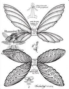 wings Auf hummingbelles.blogspot.com http://www.pinterest.com/pearlswithplaid/paper-dolls-for-real/