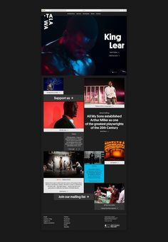 Branding and website for UK all black theatre company Talawa by Spy